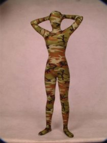Army Camouflage Spandex Lycra Zentai Suit