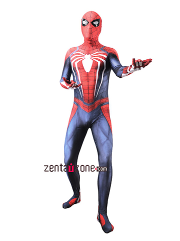 Custom Printed PS4 Spiderman Zentai [40100]