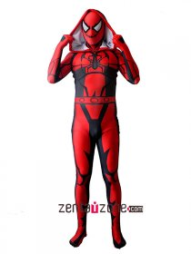 Cool Agent Carnage Spiderman Lycra Zentai Suit