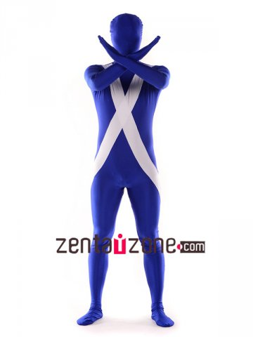 Lycra Full Bodysuit Flag Pattern Zentai Suit