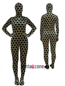 Round Pattern Full Bodysuit Thicken Velvet Zentai Suit