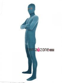 Light Blue Velvet Zentai Full Body Suit