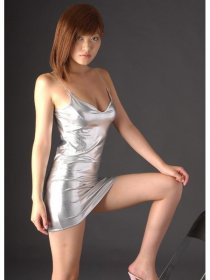 Sexy Silver Shiny Zentai Mini Dress