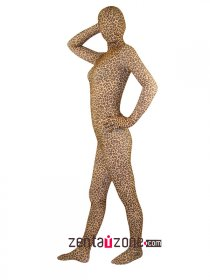 Leopard Pattern Lycra Full Body Zentai Suit