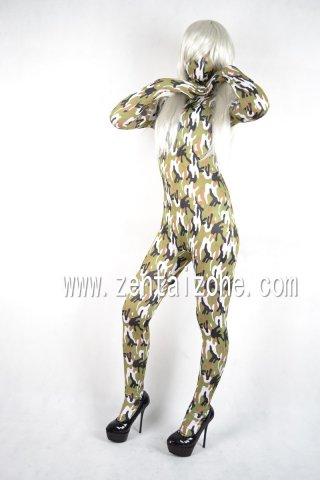 Lycra Abstract Pattern Zentai Catsuit