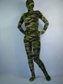 Army Camouflage Full Body Spandex Zentai Suit