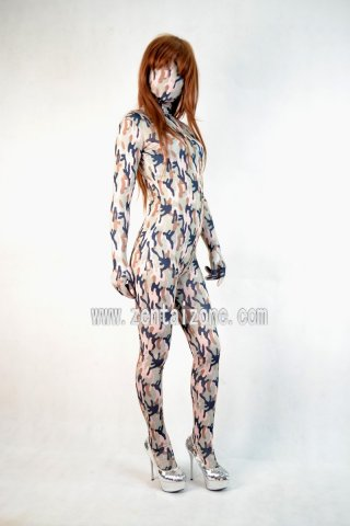 Spandex Lycra Abstract Pattern Full Bodysuit Zentai Catsuit