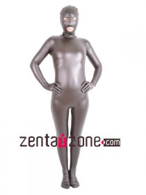 2014 PU Metallic Full Body Zentai With Open Eyes And Mouth