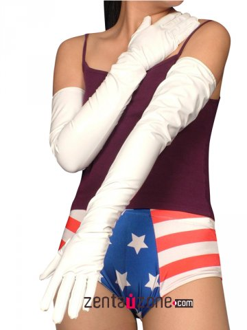 White Long PVC Gloves