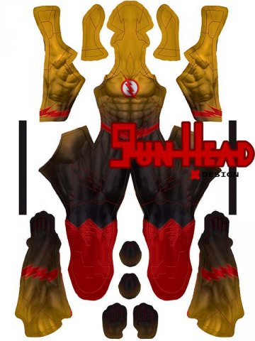 Custom Printed New 52 Reverse Flash Zentai Costume
