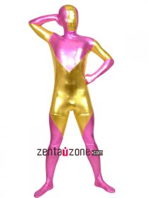 Pink Golden Shiny Metallic Unisex Zentai