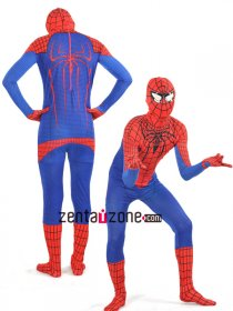 2012 Spandex Lycra Zentai Amazing Spiderman Costume