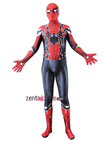 Custom Printed Iron Spider-MCU Final Zentai Costume [40102]