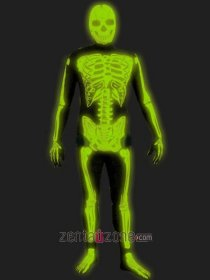 Glow In Dark Halloween Spandex Lycra Skeleton Zentai
