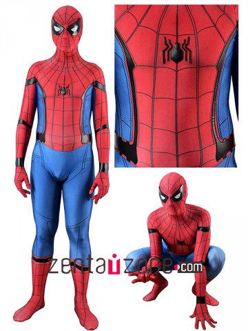 Homecoming Leather Lycra Spiderman costume V2 [30505]