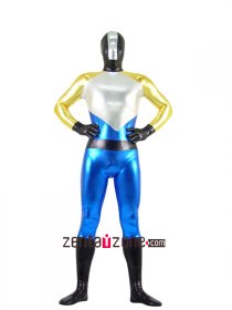 Multicolor Unisex Shiny Metallic Zentai Suit