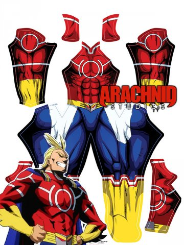 Custom Printed ALL MIGHT V2 Zentai Costume