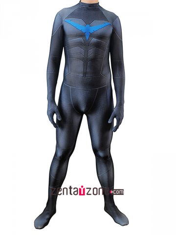 Custom Printed Nightwing V2 Lycra Zentai Costume