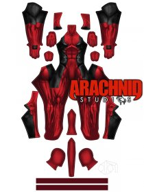 Custom Printed Deadpool Zentai Costume