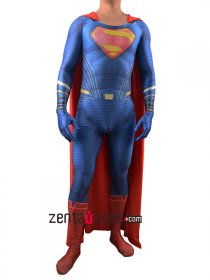Authentic Man Of Steel Superman Lycra Zentai Costume