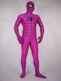 Purple Spiderman Spandex Lycra Costume