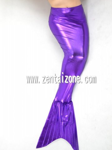 Purple Shiny Metallic Mermaid Dress