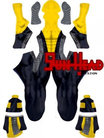 Custom Printed Ultimate Powerman Zentai Costume