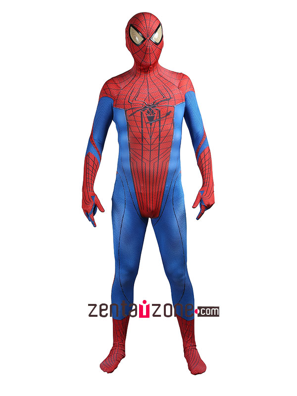 Injured Lycra The Amazing Spiderman 1 Zentai Suit - Click Image to Close