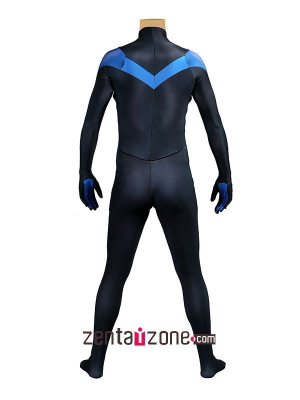 Blue And Black Nightwing Zentai Costume - Click Image to Close