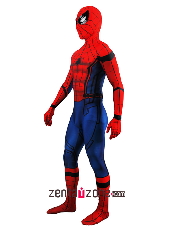 Lycra Civil War Spiderman Zentai Costume(Version2) - Click Image to Close