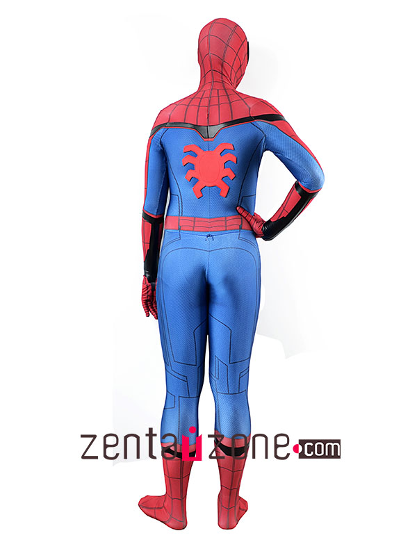 Homecoming Leather Lycra Spiderman costume V2 - Click Image to Close