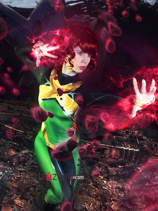 Custom Printed Jean Grey X-men Zentai Costume - Click Image to Close