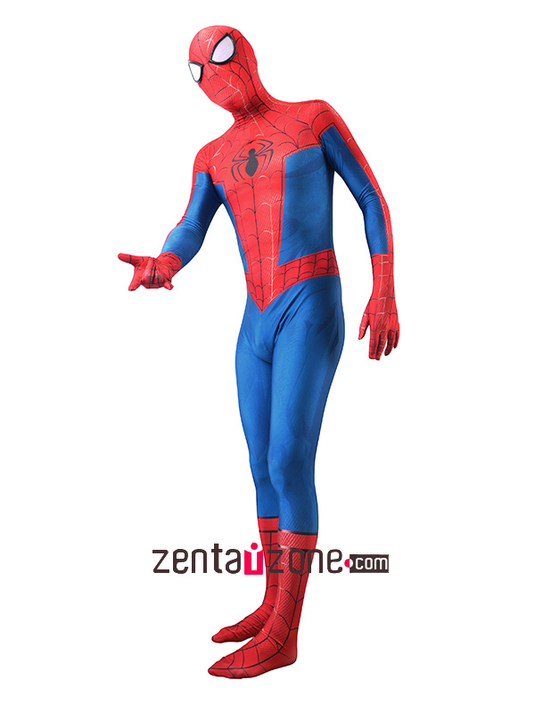 Custom Printed Spider-Man Into The Spider-Verse Zentai - Click Image to Close