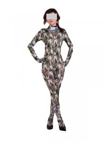 Lycra Camouflage Pattern Catsuit