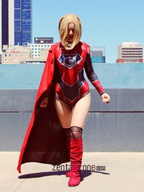 Custom Daughter Of Krypton Red Lantern Zentai Leotard