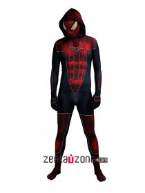 Spandex Lycra City Amazing Spiderman Hoodie Costume 3D Muscle