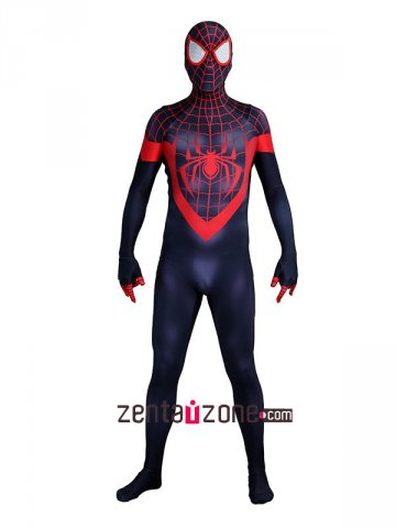 Authentic Miles Morales Spiderman Zentai Costume [30412]