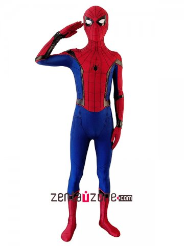 Color Fabric Homecoming Lycra Spiderman Zentai costume [40252]