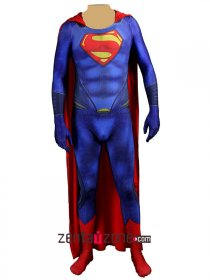 Printed Man Of Steel Superman Zentai Suit