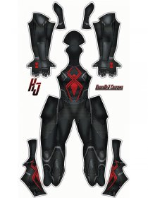 Custom Printed Dark Suit Spider-Man (Insomniac) Zentai