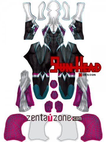 Custom Printed Ghost Spider Gwen MALE Zentai Costume [40224]