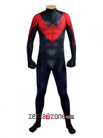 Red And Black Nightwing Zentai Hero Costume