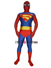 Spandex Lycra Zentai Costume For Spiderman And Superman
