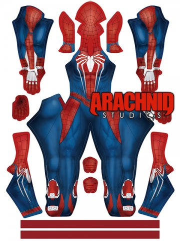 Custom Printed Female PS4 Spiderman V2 Zentai Costume