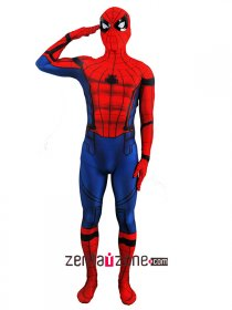 Lycra Civil War Spiderman Zentai Costume(Version2)