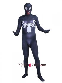 Cool Spandex Venom Black Symbiote Spiderman Zentai Costume