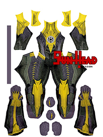Custom Printed Sinestro Injustice Zentai Costume