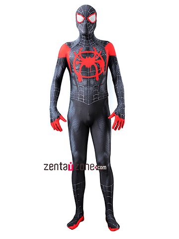 Custom Printed Miles Morales Spiderman Zentai [40101]