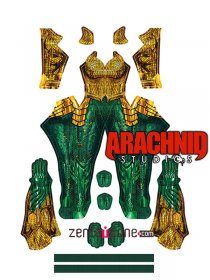 Custom Printed Aquaman Female Zentai Costume
