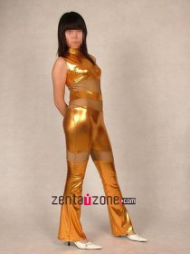Golden Shiny Metallic Zentai Suit